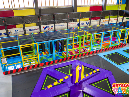 Trampoline park and indoor softplay installation in Norway