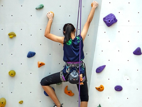 Rock climbing for kids...