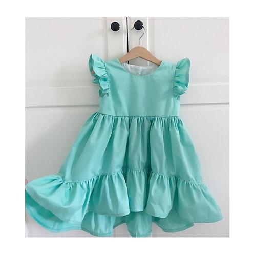 Vestido Janaína turquesa