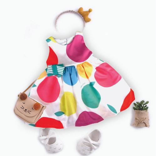 Vestido Poás coloridos