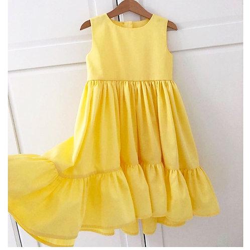 Vestido Janaína amarelo ouro