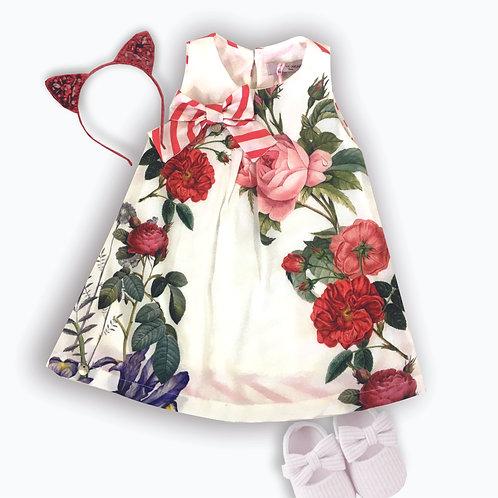 Vestido trapézio Floral Vintage