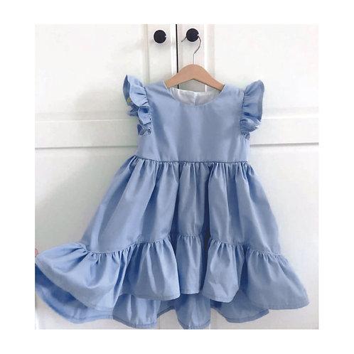 Vestido Janaína azul céu