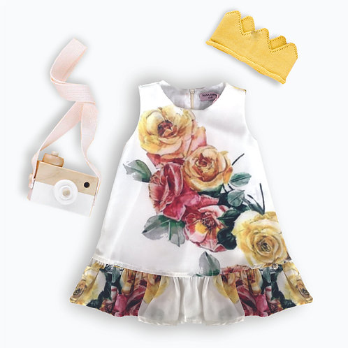Vestido trapézio Floral bonito