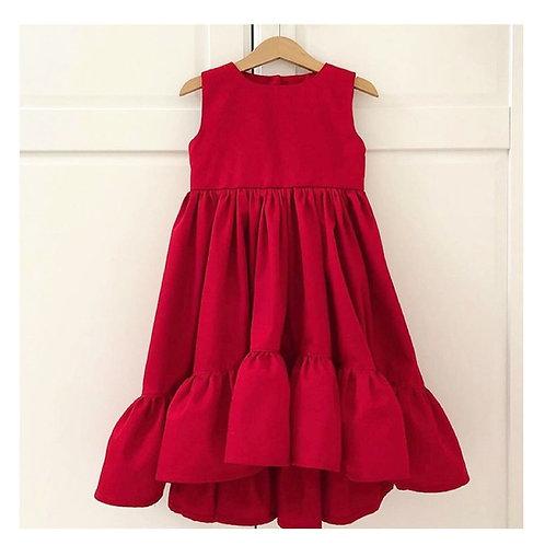 Vestido Janaína vermelho
