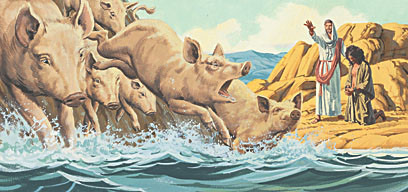 Did Jesus sin when He killed the Pigs?