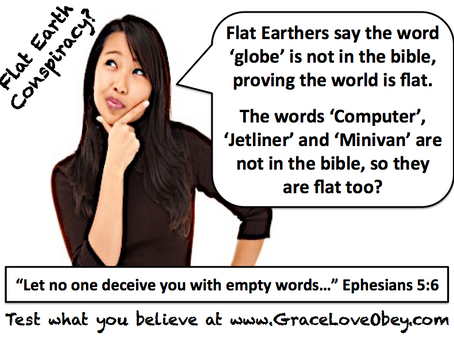 Flat Earth Conspiracy? Where is the word 'flat'?