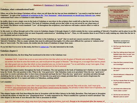 Galatians, What a Misunderstood Book PDF