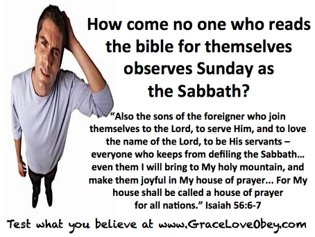 Read the bible for yourself & the Sabbath