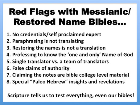 """What bible translation should I get & the red flags of some Messianic """"translations"""""""