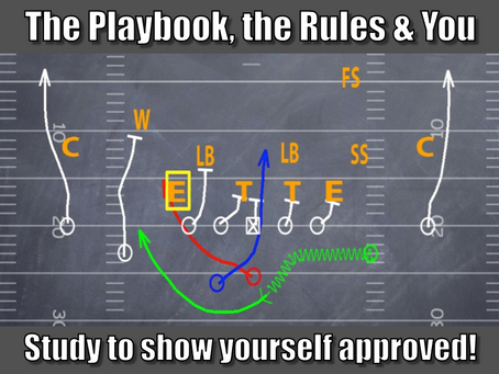 The Playbook, the Rules and You