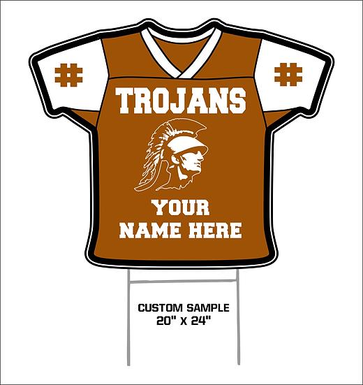Trojan Football Yard Sign