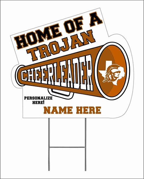 Trojan Cheer Yard Sign