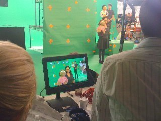 Green Screening for Ave. Q