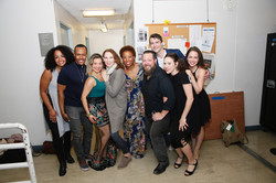 Cast backstage at the Ahmanson