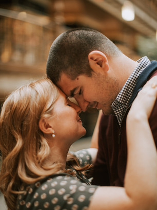 Cleveland Arcade, Cleveland Engagement Session // Hannah + Andy