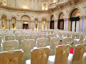 ivory lycra chair covers