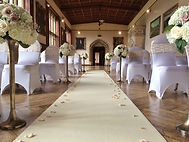Cream wedding Aisle Runner Sprinkled With Faux Rose Petals
