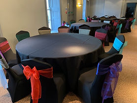 black lycra chair covers