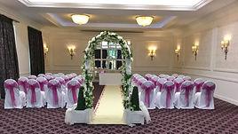 wedding arch + lantern