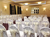 White polyester loose fitting chair cover