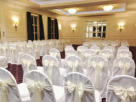 White Loose Fitting Chair Covers