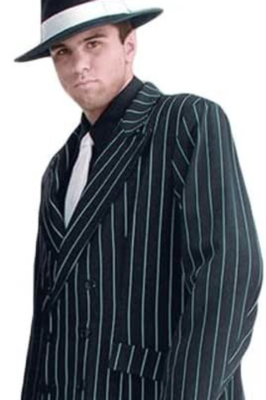 """Clyde"" Gangster Pinstriped Suit"