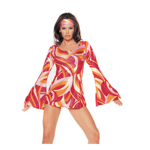 Go Go Red Psychedelic Dress- Rental