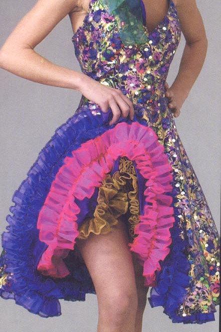 Mardi Gras Sequin Saloon Girl - Purple, gold, green,- Rental