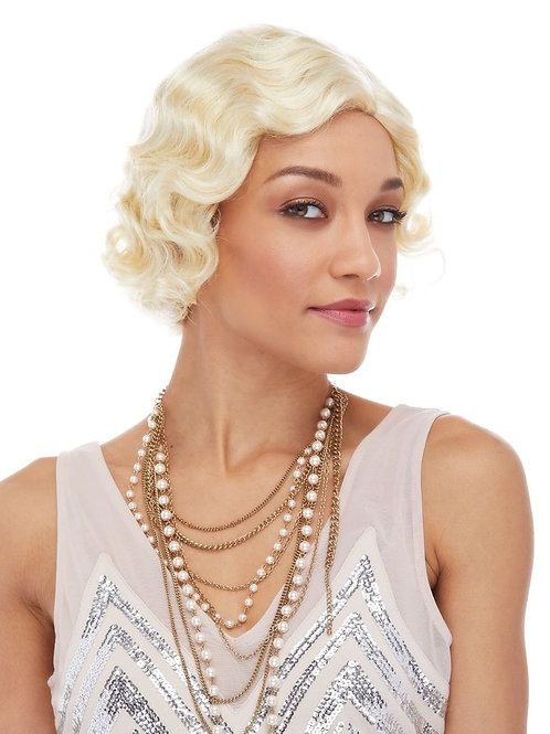 Roaring 20's Wig - Blonde-Auburn-Black