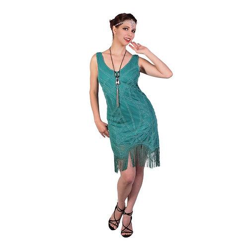 1920's Green Jade Flapper Dress