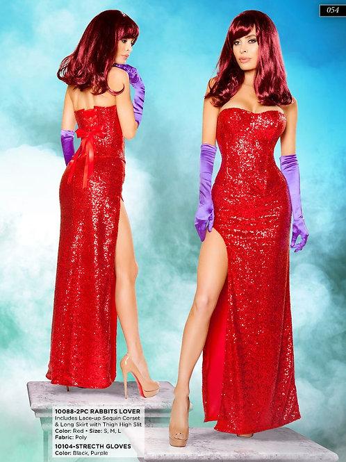 Jessica Rabbit - Starlet - Red Sequin Dress - Rental