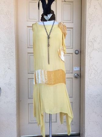 1920s Yellow Chiffon Dress - Rental