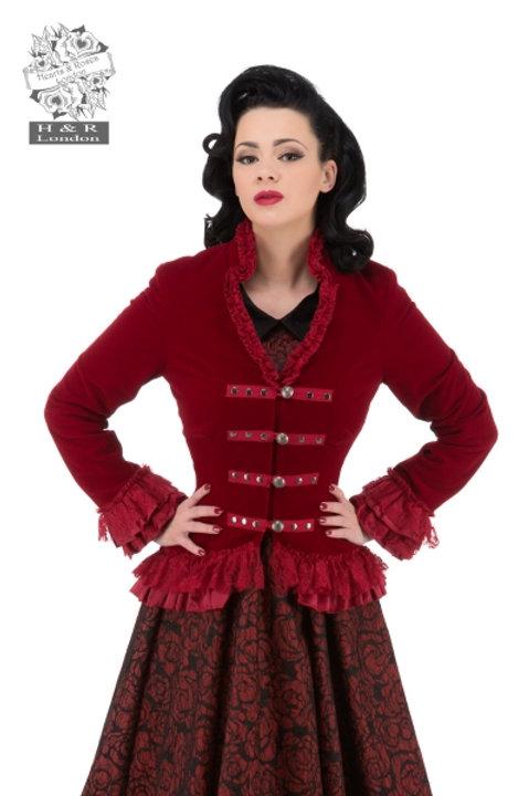 "Victorian-Pirate Velvet  Jacket"" ""Gloria"""