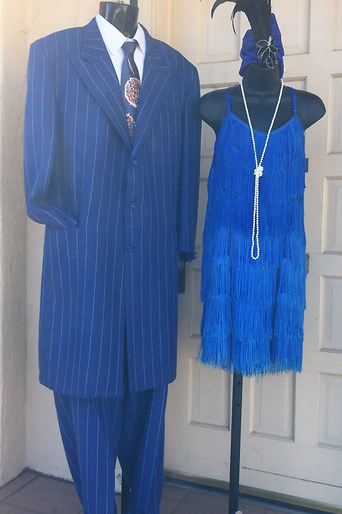 Deluxe Blue Pinstripe Zoot Suit