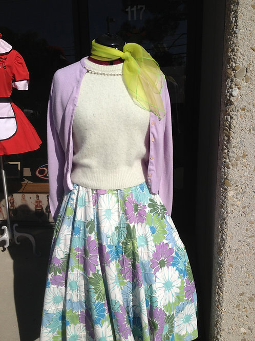 """1940-50's Skirt and Sweater Ensemble - Poodle type"""" - Rental"""
