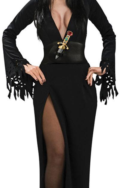 Elvira Long Black Dress - Rental