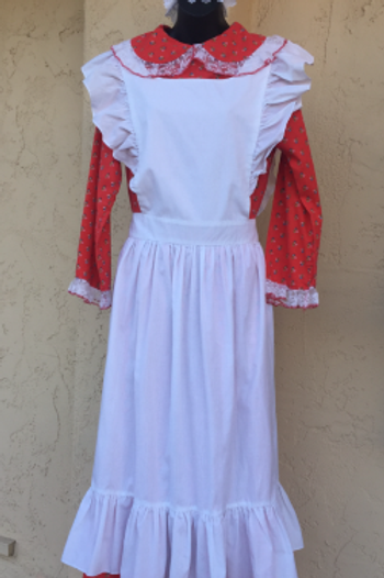 Mother Goose - Mrs. Claus- Dress with Pinafore- Rental