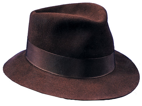 Brown Fedora Hat - Adult