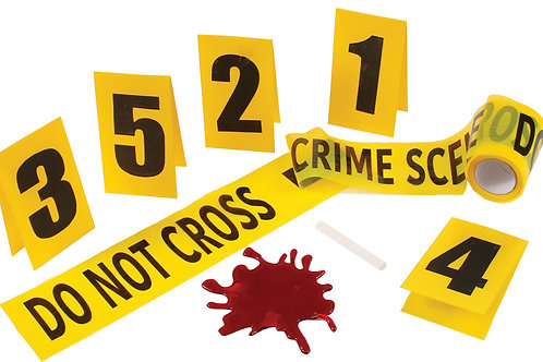 Crime Scene Kit W/Blood Splat