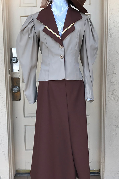 Western - Victorian Culottes Riding Suit -Rental