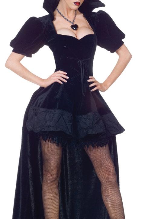 Black Velvet Evil Queen with Back Bustle - Rental