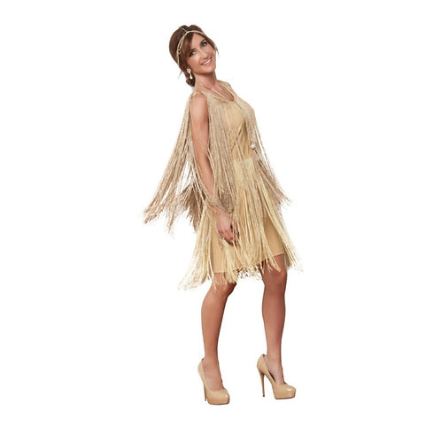 1920's Long Fringe Flapper Dress