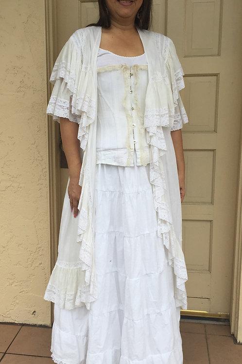 Victorian - Corseted Dressing Gown Underwear Ensemble -Rental