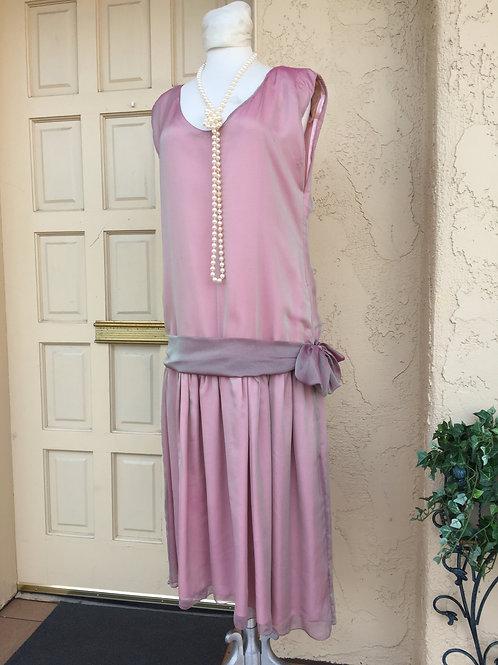 1920s Mauve Chiffon Dress - Rental