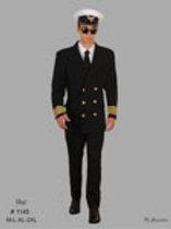 Sea Captain Uniform Black