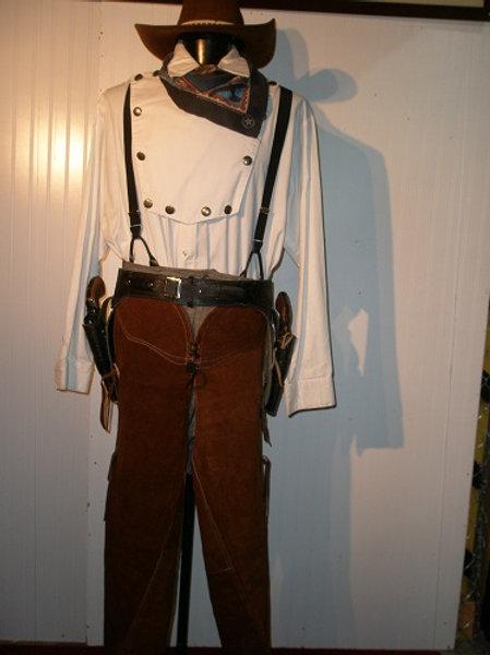 """""""John Wayne"""" Sheriff - Cowboy- Rancher - with Chaps - Rental"""