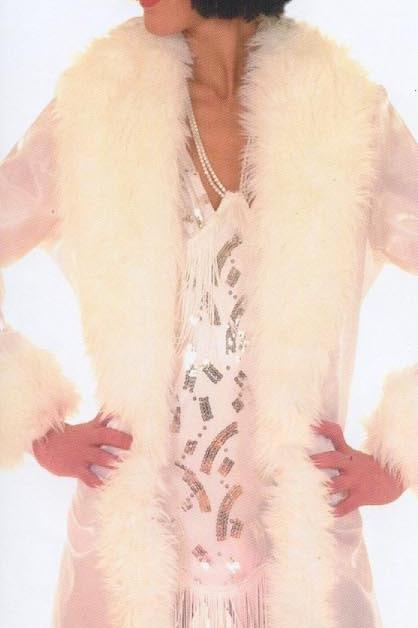 1920s White Coat with Fur Collar-Rental