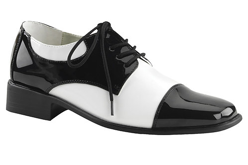 Black and White Gangster Shoes