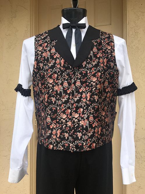 Victorian - Western Vest - Bartender with Garters - Rental